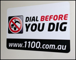 Dial Before You Dig custom car magnets
