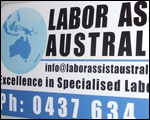 Labor Assist Car Magnets.